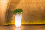 Stilo Tall Round Illuminated Pots